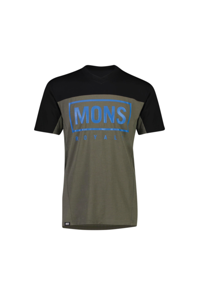 Jersey Mons Royale Mens Redwood Enduro VT Olive/Black