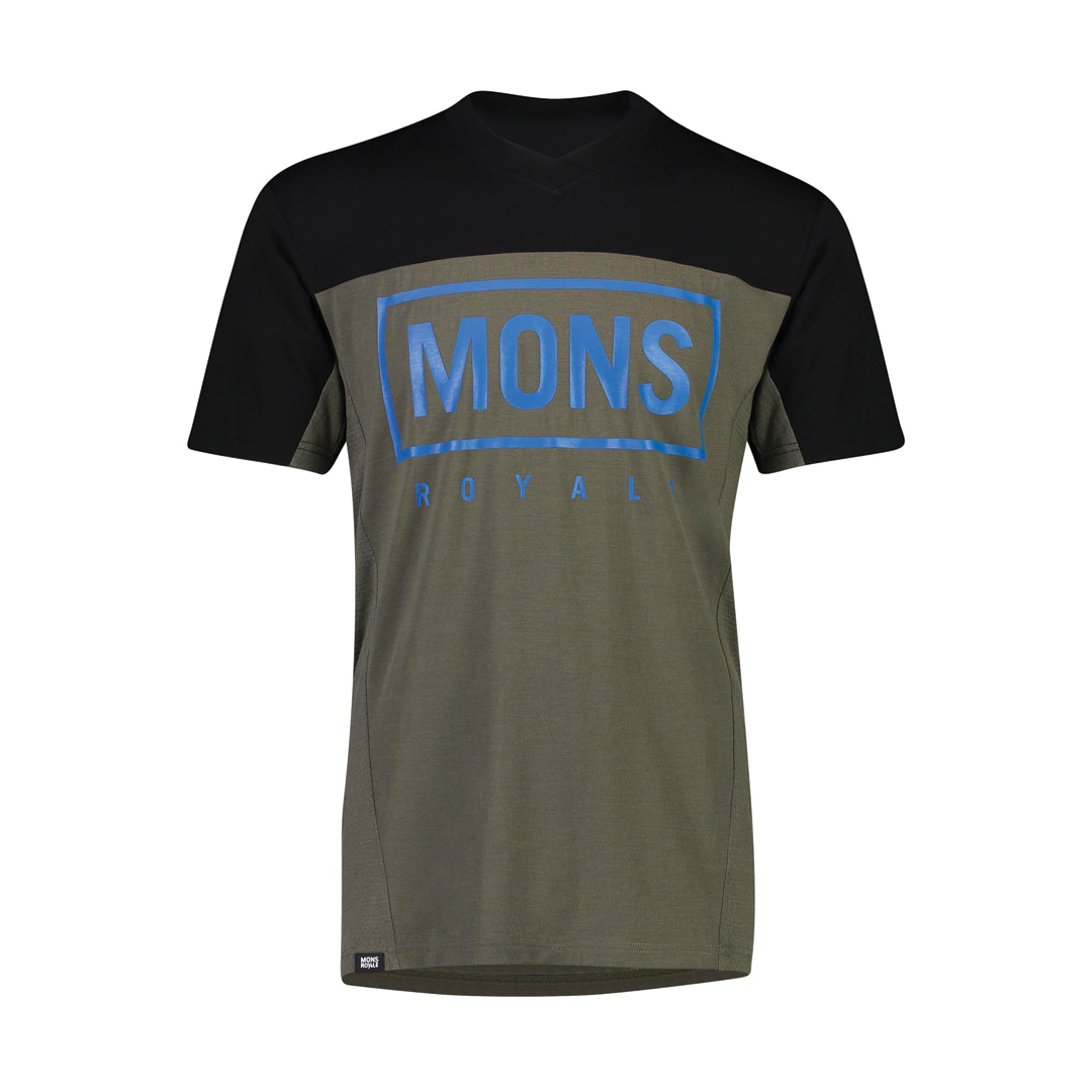 Jersey Mons Royale Mens Redwood Enduro VT Olive/Black-1