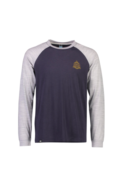 Jersey Mons Royale Mens Icon Raglan LS 9 Iron/Grey Marl