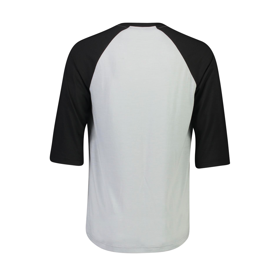 Jersey Mons Royale Mens Tarn Freeride Raglan 3/4 Black/Grey-2