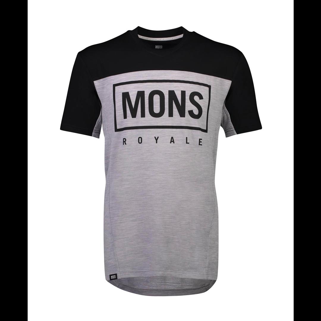 Jersey Mons Royale Mens Redwood Enduro VT Black / Grey Marl-1