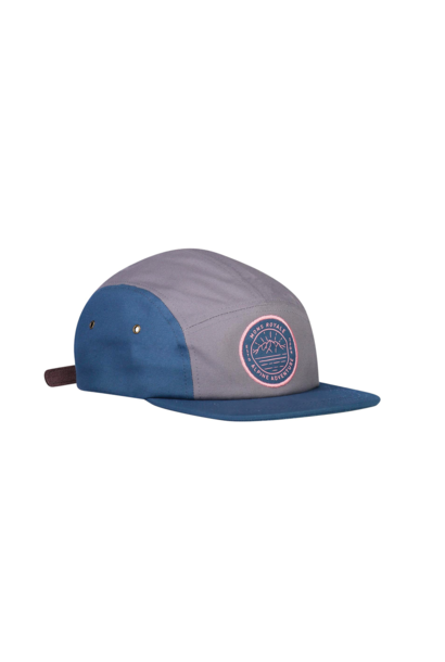 Cap Mons Royale Unisex Beattie 5 Panel Cap Denim/Grey OS