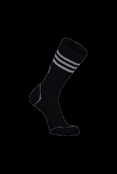 Bas Mons Royale Mens Signature Crew Sock Stripe Black