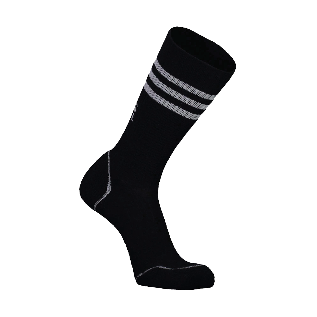 Bas Mons Royale Mens Signature Crew Sock Stripe Black-1