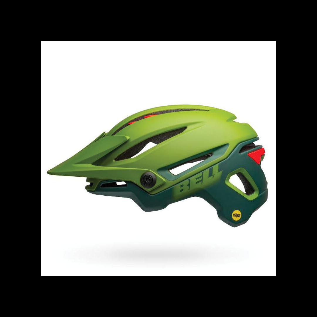 Helmet Bell Sixer Mips Vert/Rouge-1
