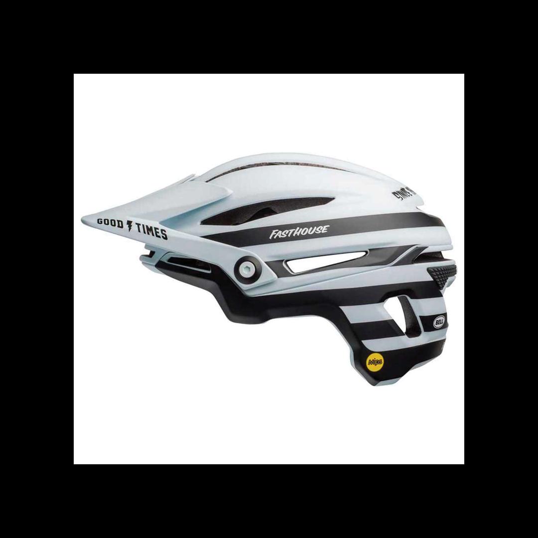 Helmet Bell Sixer Mips Blanc/Noir Mat Fasthouse - Medium-1
