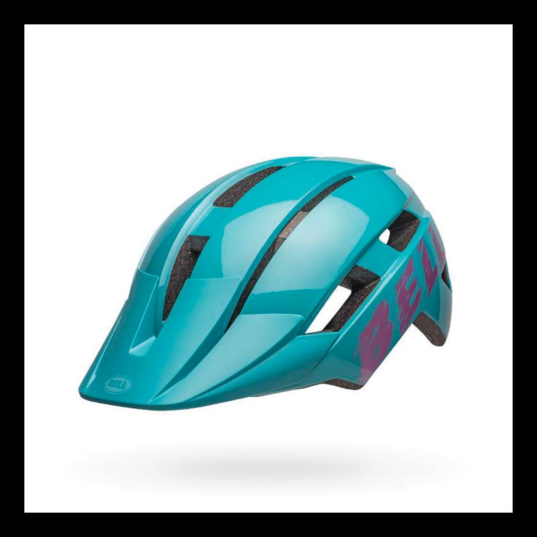 Helmet Bell Junior Sidetrack II Bleu/Rose-2