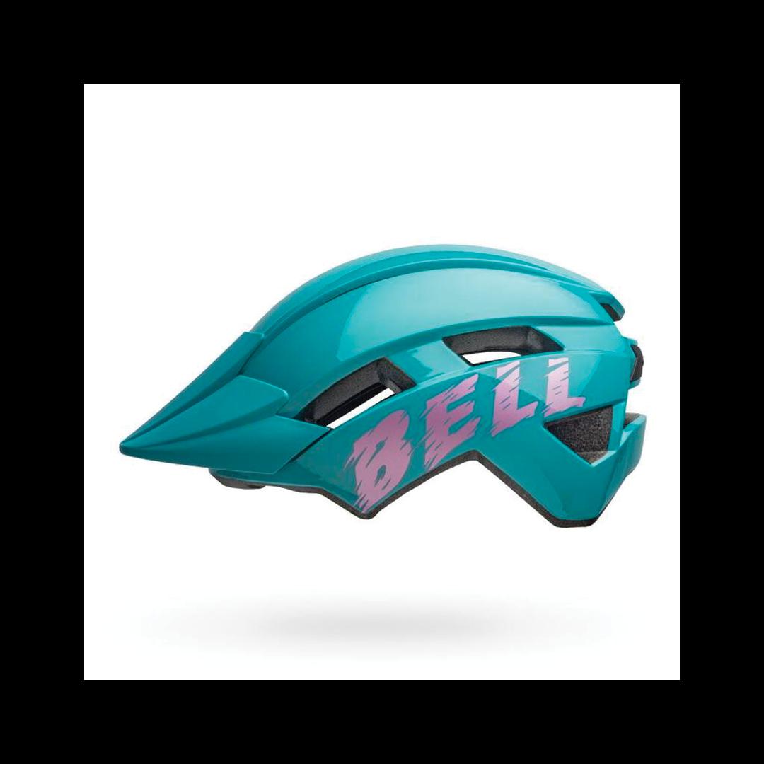 Helmet Bell Junior Sidetrack II Bleu/Rose-1
