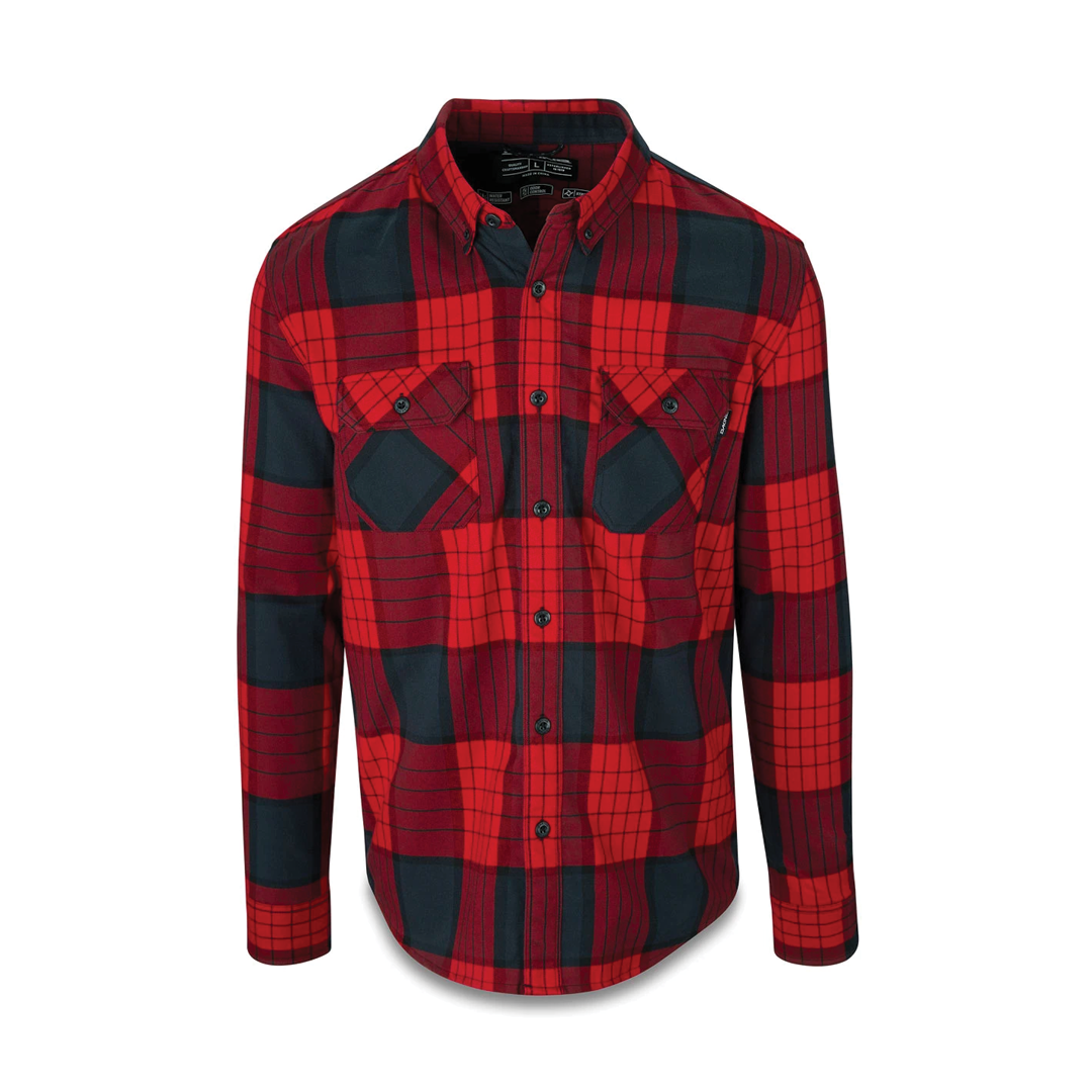 Shirt Dakine Reid Tech Flannel Crimson Red-1