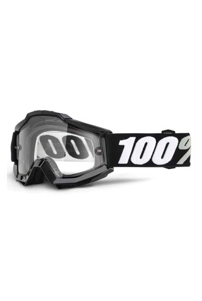 Goggle 100% Accuri Black Tornado Clear Dual Lens