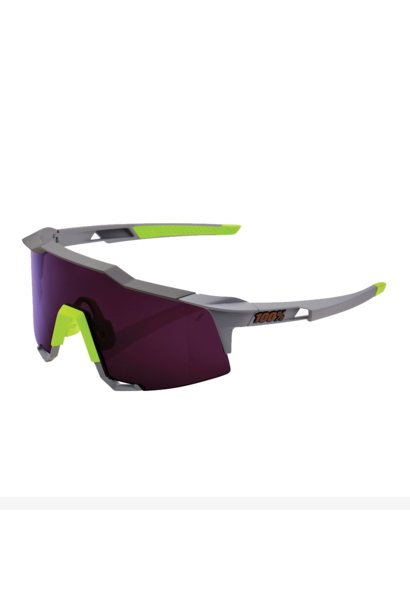 Sunglasses 100% Speedcraft® Soft Tact Midnight Mauve Purple Lens + Clear Lens Included
