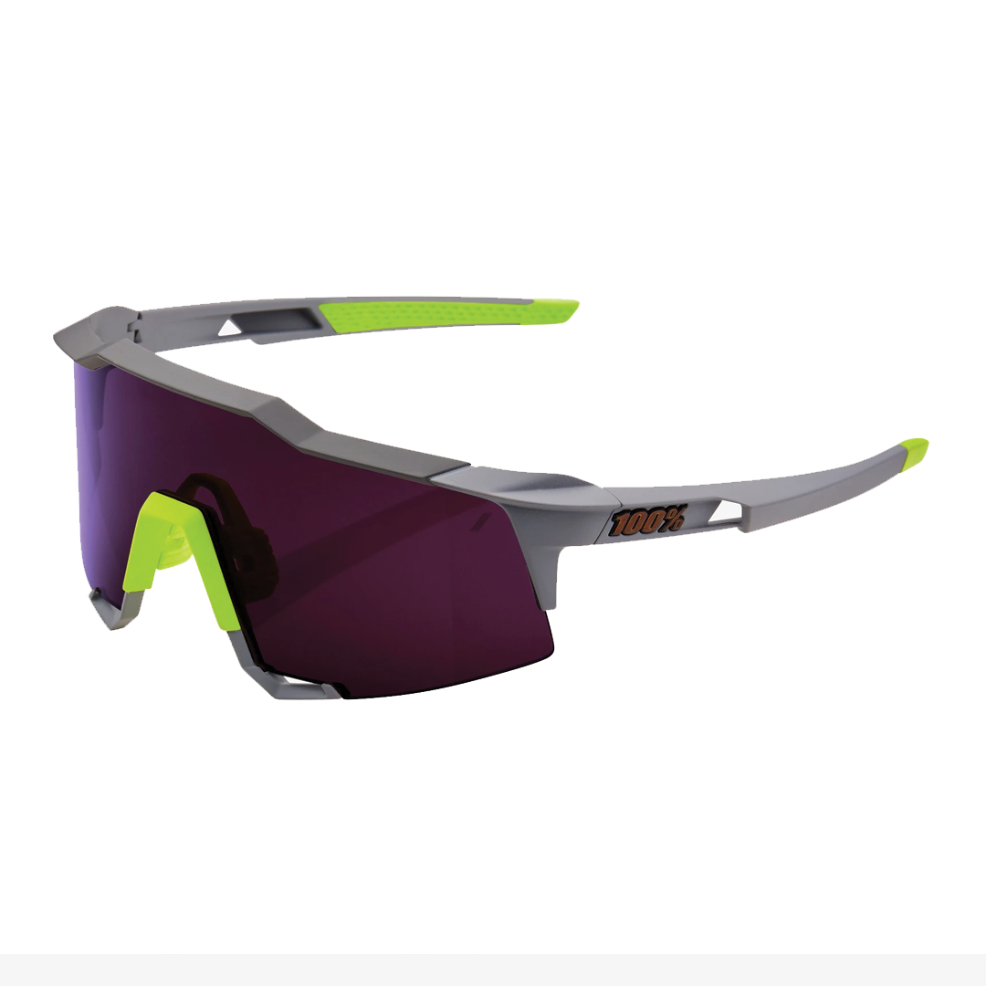 Sunglasses 100% Speedcraft® Soft Tact Midnight Mauve Purple Lens + Clear Lens Included-1