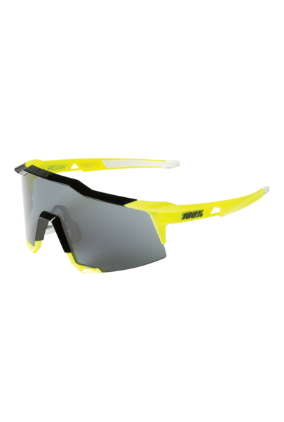 Sunglasses 100% Speedcraft® Fluo Yellow Silver Mirror + Clear Lens Included
