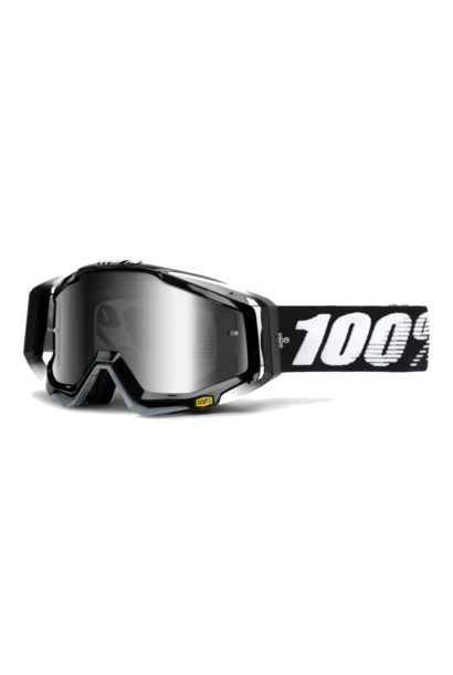 Goggle 100% Racecraft Abyss Black Mirror Silver Lens