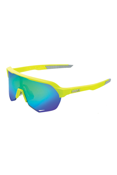 Sunglasses 100% S2 Fluo Yellow Geen Multi Mirror Lens