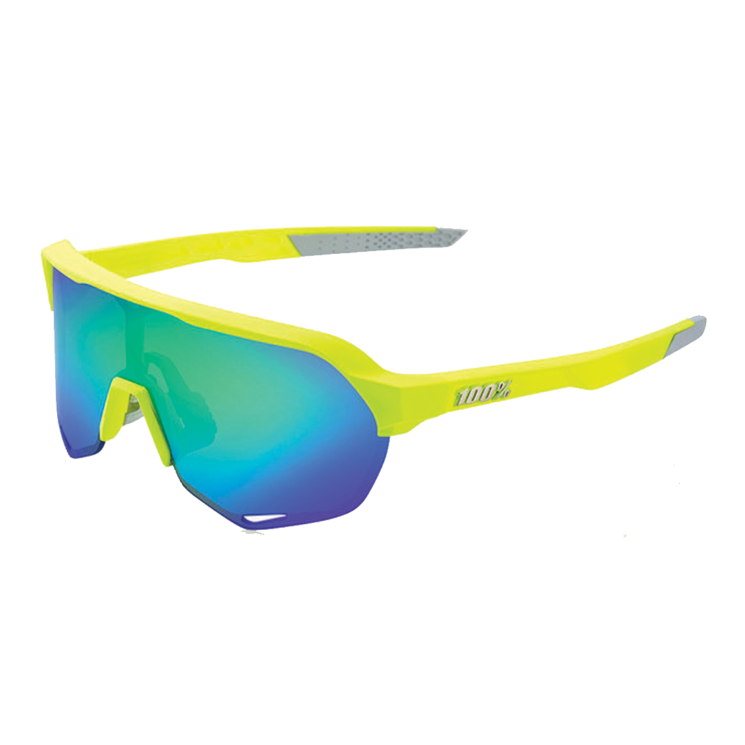 Sunglasses 100% S2 Fluo Yellow Geen Multi Mirror Lens-1