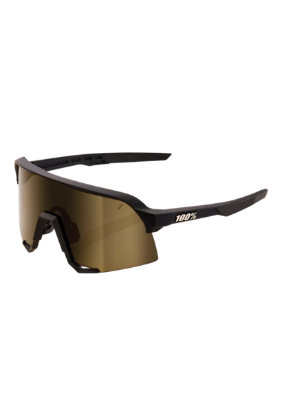 Sunglasses 100% S3® Soft Tact Black Soft Gold Mirror Lens + Clear Lens Included