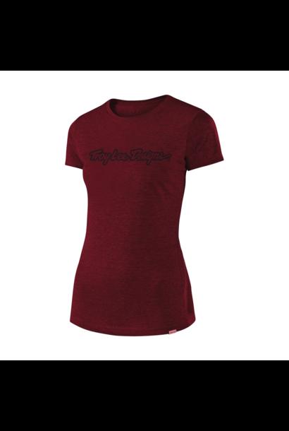 T-Shirt Troy Lee Femme  Signature Tee Maroon