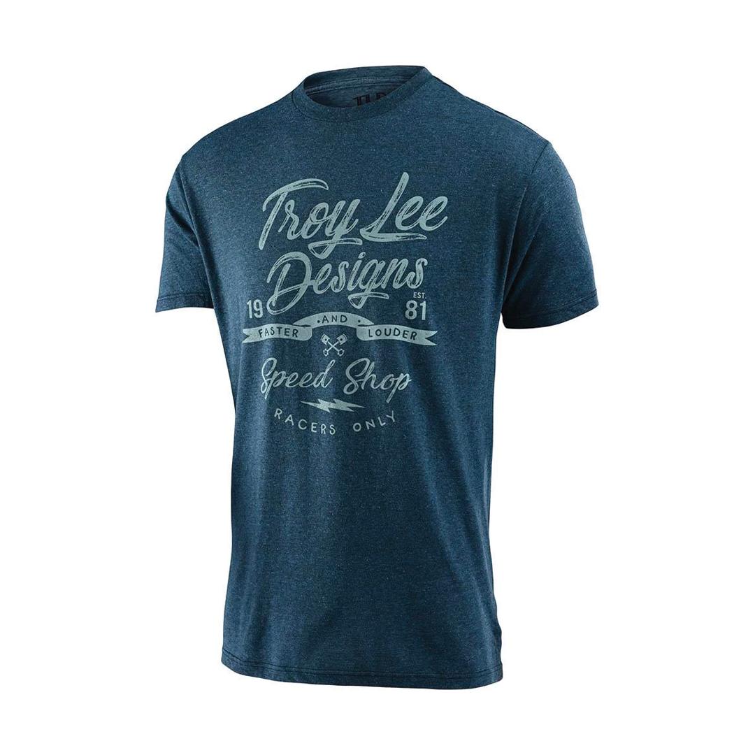 T-Shirt Troy Lee Widow Maker Indigo Black Heather-1