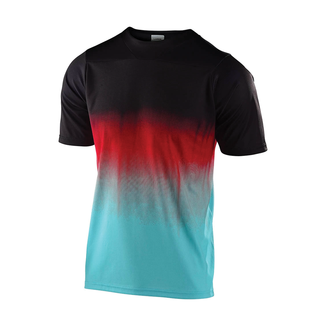 Jersey Troy Lee Junior Skyline SS Stain'd Black/Turquoise-1