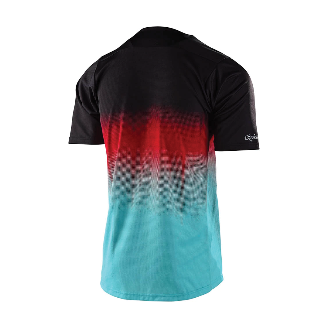 Jersey Troy Lee Junior Skyline SS Stain'd Black/Turquoise-2
