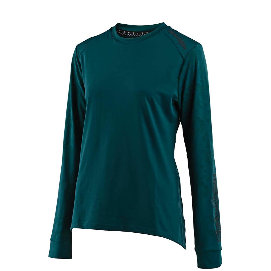 Jersey Troy Lee Femme Lilium LS Floral Emerald-1