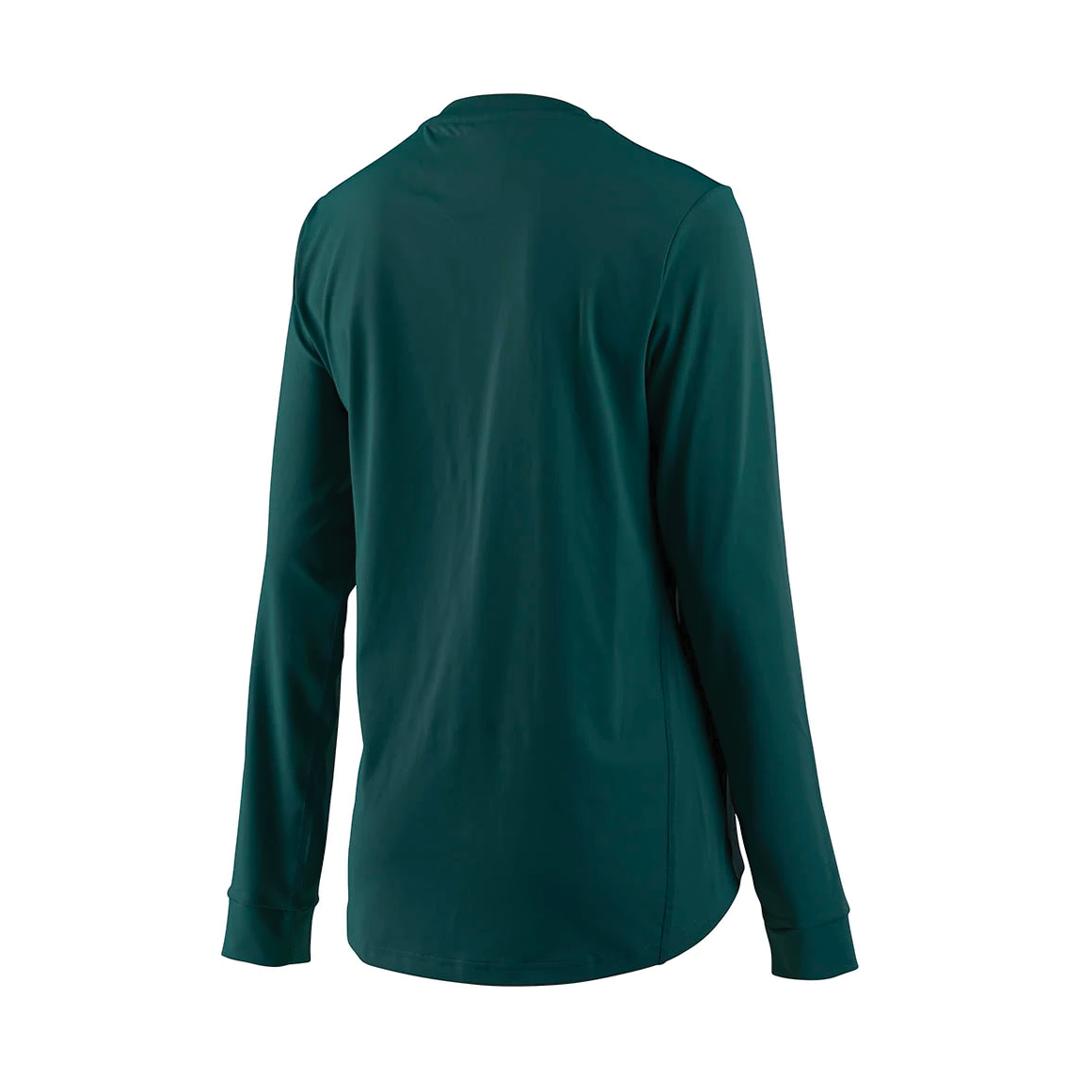 Jersey Troy Lee Femme Lilium LS Floral Emerald-2