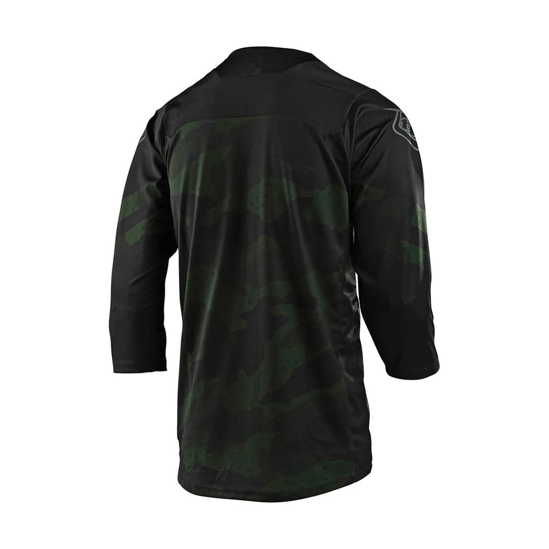 Jersey Troy Lee Ruckus 3/4 Factory Camo Green/Black-2