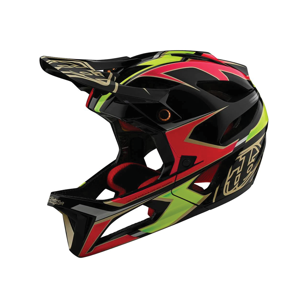 Helmet Troy Lee Femme Stage Ropo Pink/Yellow-1
