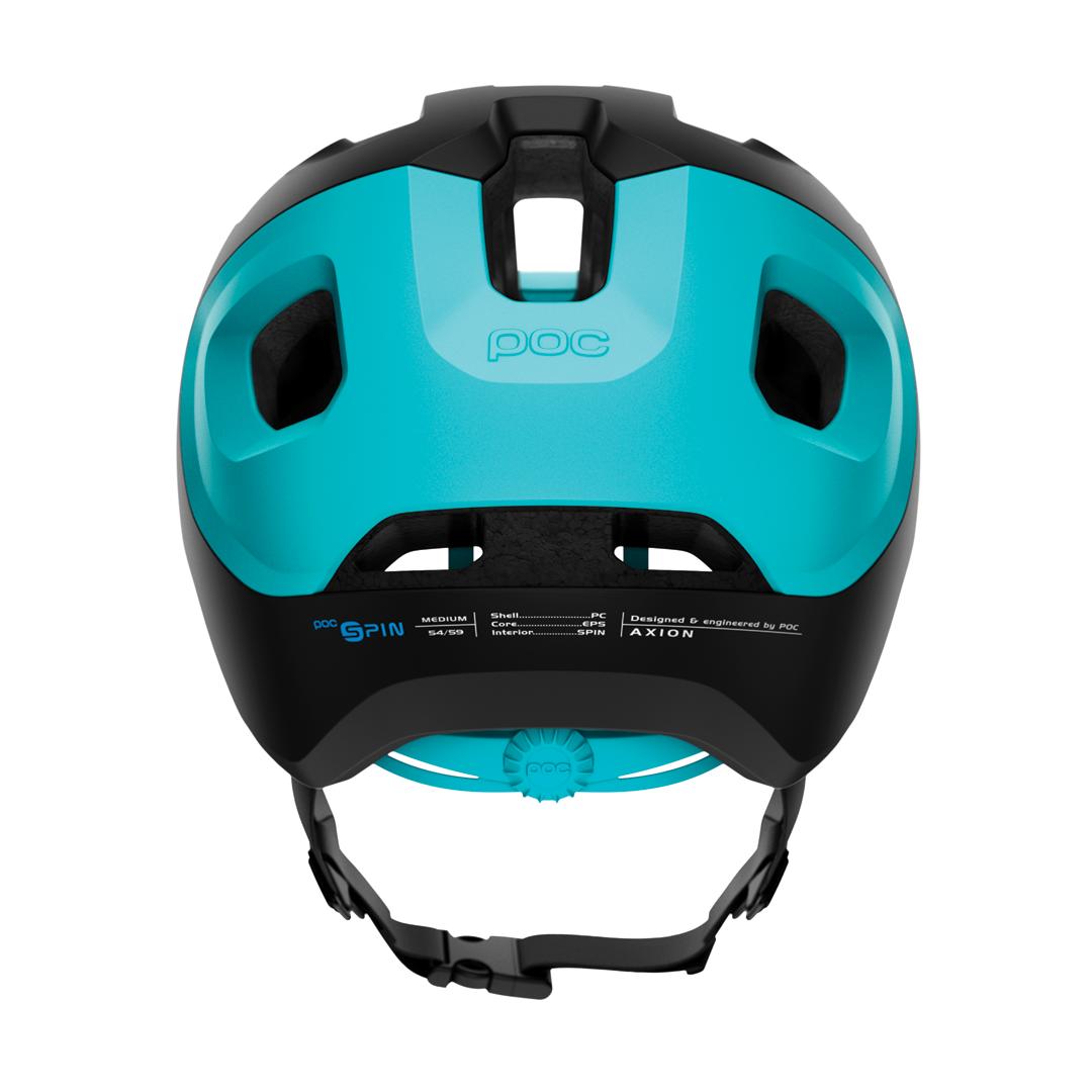 Helmet POC Axion Spin Uranium Black/Kalkopyrit Blue Matt-4