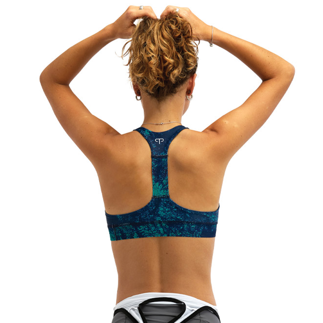 Sport Bra Peppermint Signature Ice Navy-2