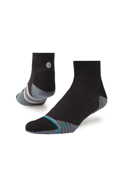 Socks Stance Bike  Solids Quarter Wool Charcoal