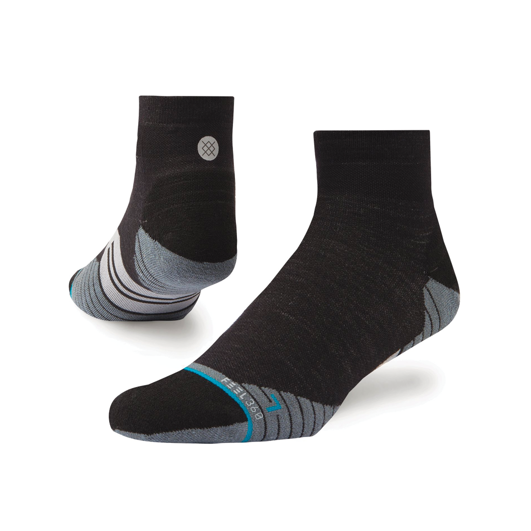 Socks Stance Bike  Solids Quarter Wool Charcoal-1