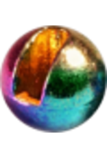 Hanak HANAK Slotted Tungsten Beads - Metallic Rainbow 4.0mm