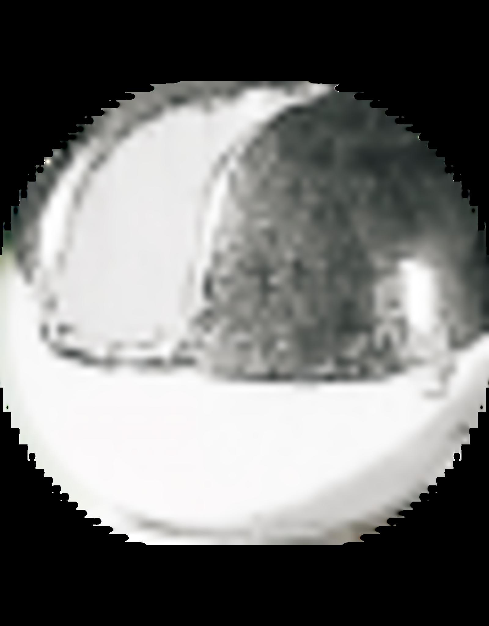 Hanak HANAK Slotted Tungsten Beads - Silver 4.0mm