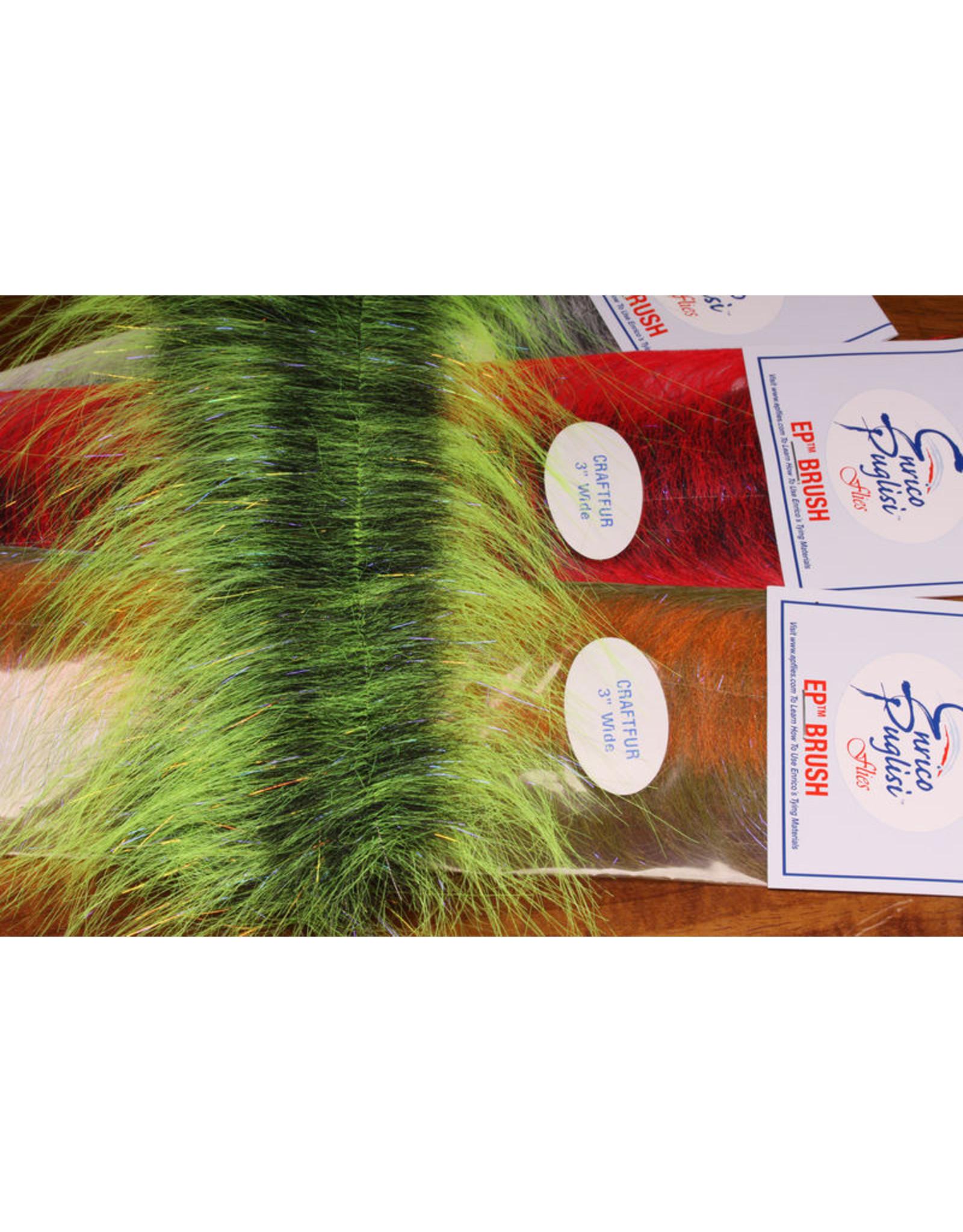 "Hareline EP Craft Fur Brush 3"" Black/Black CFB29"