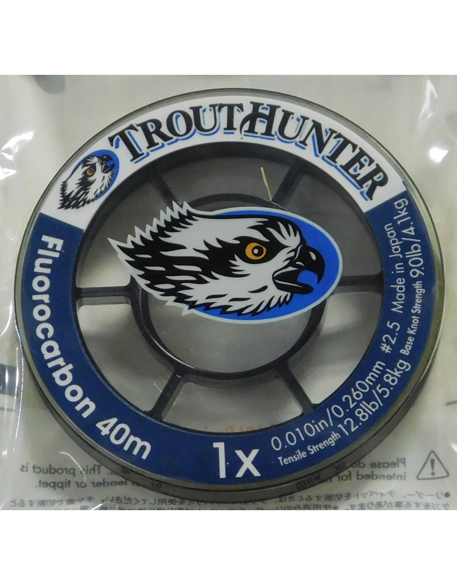 """Trouthunter TroutHunter Fluorocarbon Big Game Tippet 0.010"""" 1X 50m"""