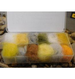 Hareline Fly Fish Food's Bruiser Blend Light Color Disenser DUB35