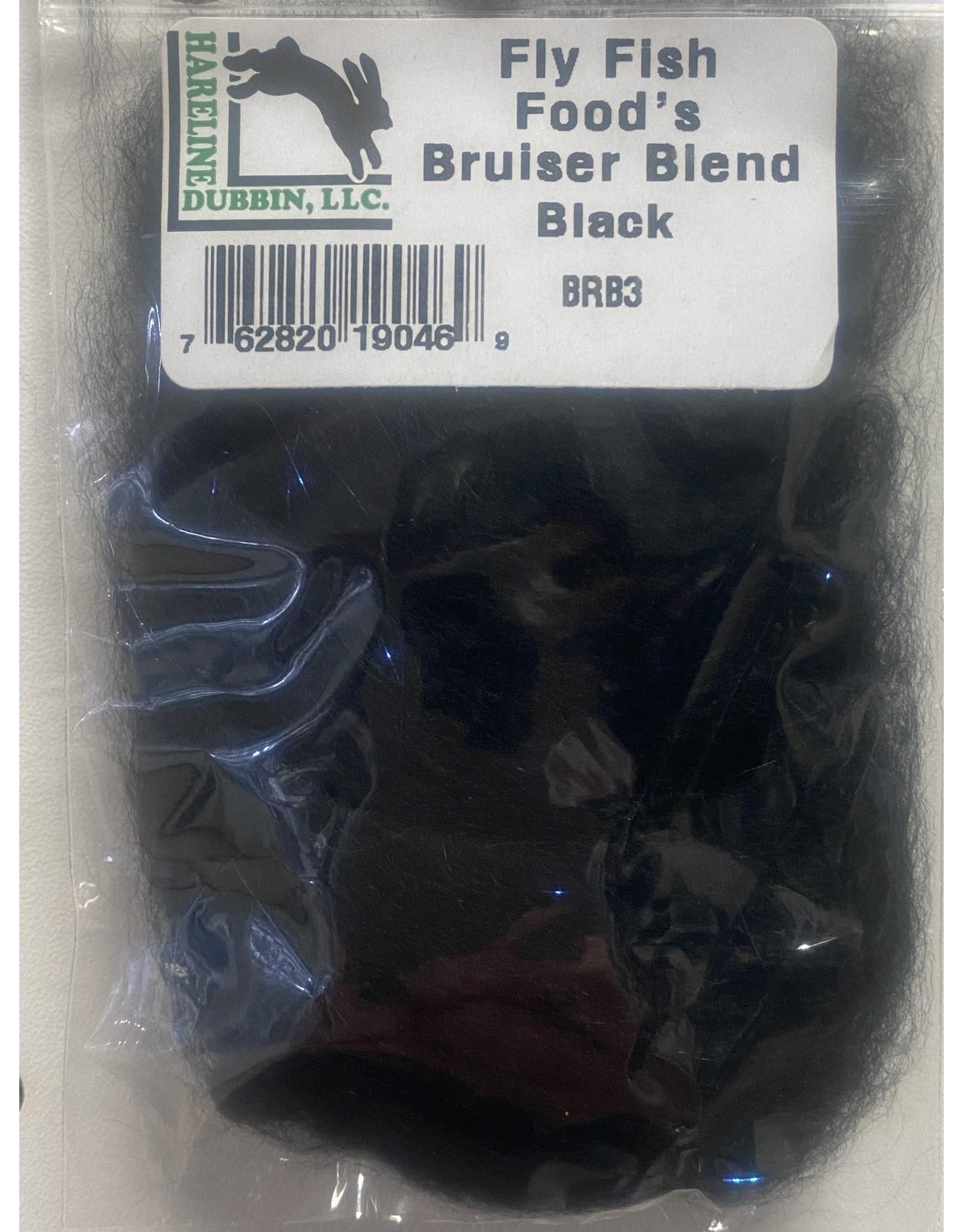 Hareline Fly Fish Food's Bruiser Blend #3  Black