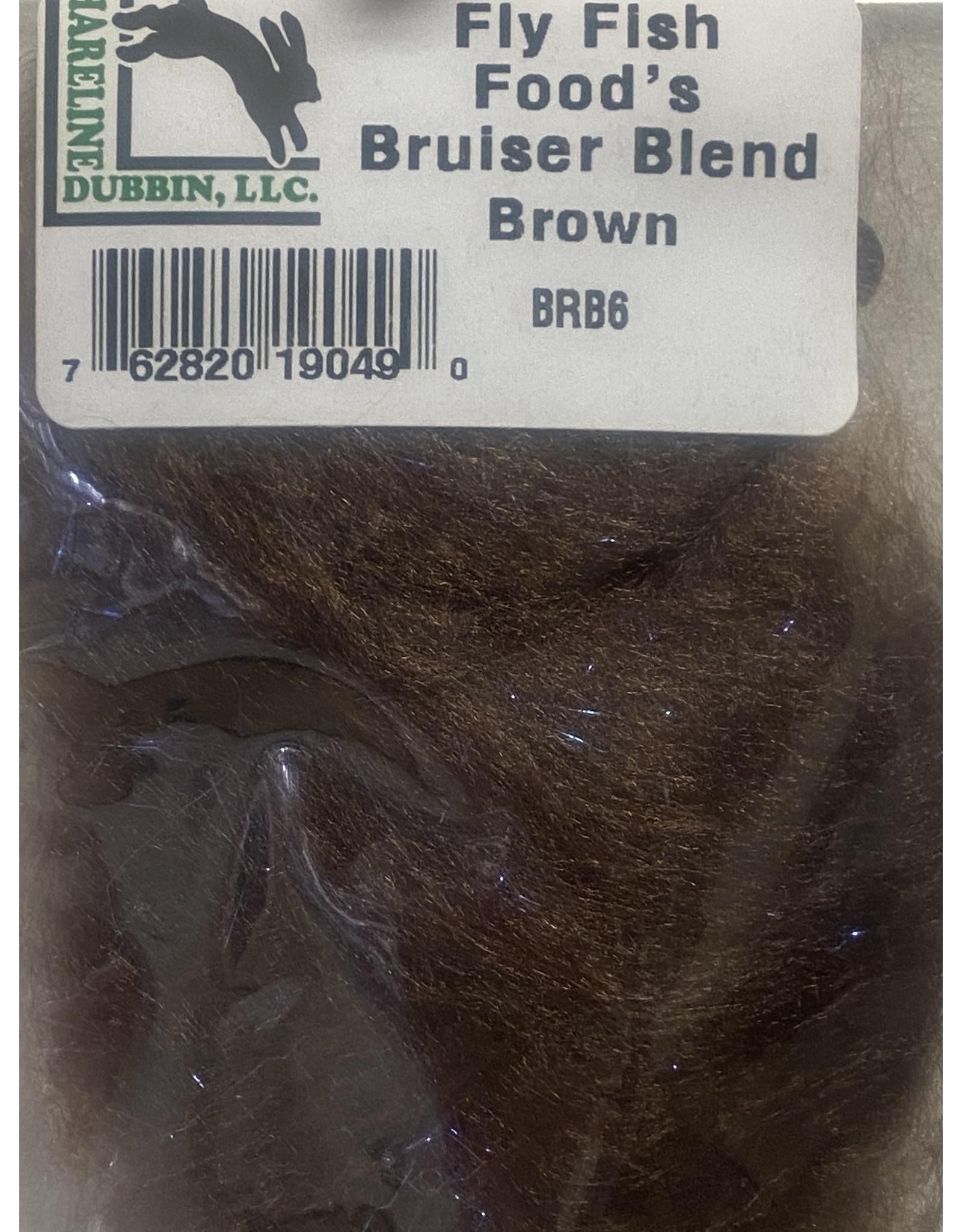 Hareline Fly Fish Food's Bruiser Blend #6 Brown