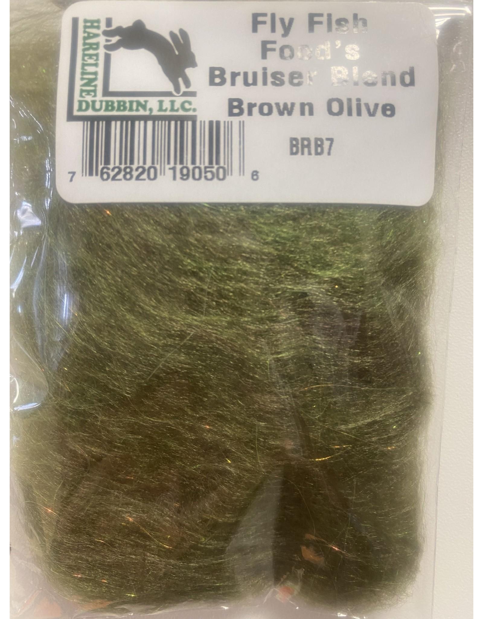 Hareline Fly Fish Food's Bruiser Blend #7 Brown Olive