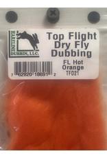 Hareline Top Flight Dry Fly Dubbing - Fl. Hot Orange TFD21