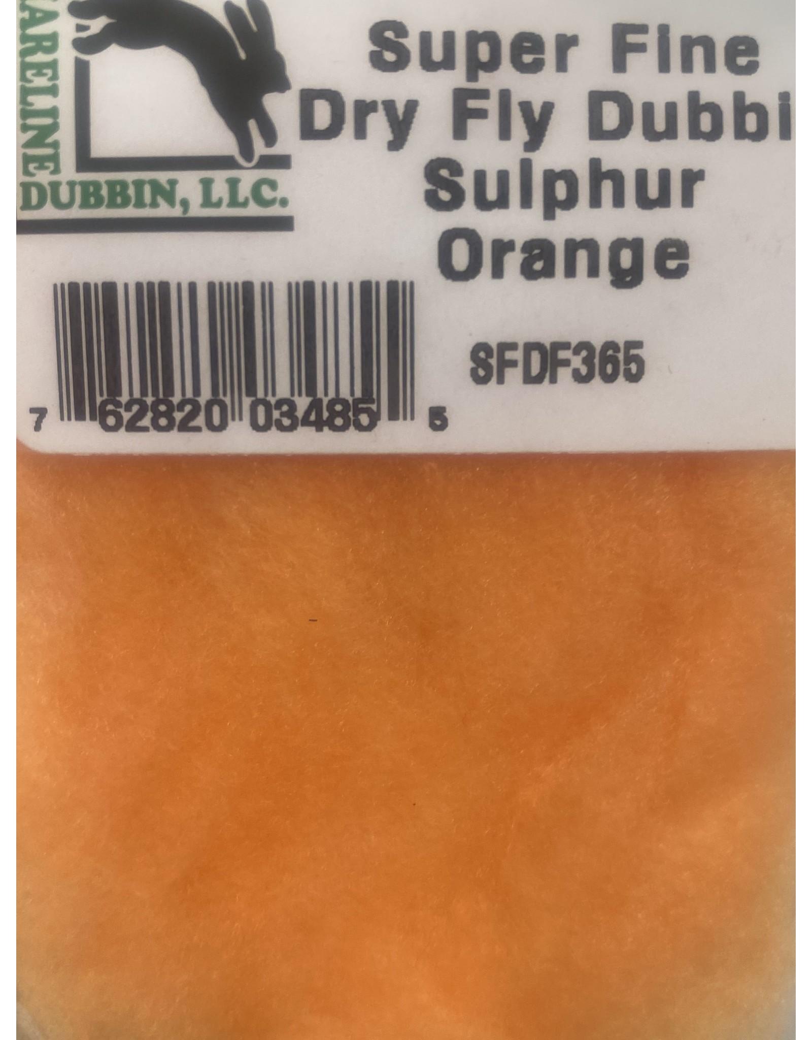 Hareline Superfine - Sulphur Orange SFDF365