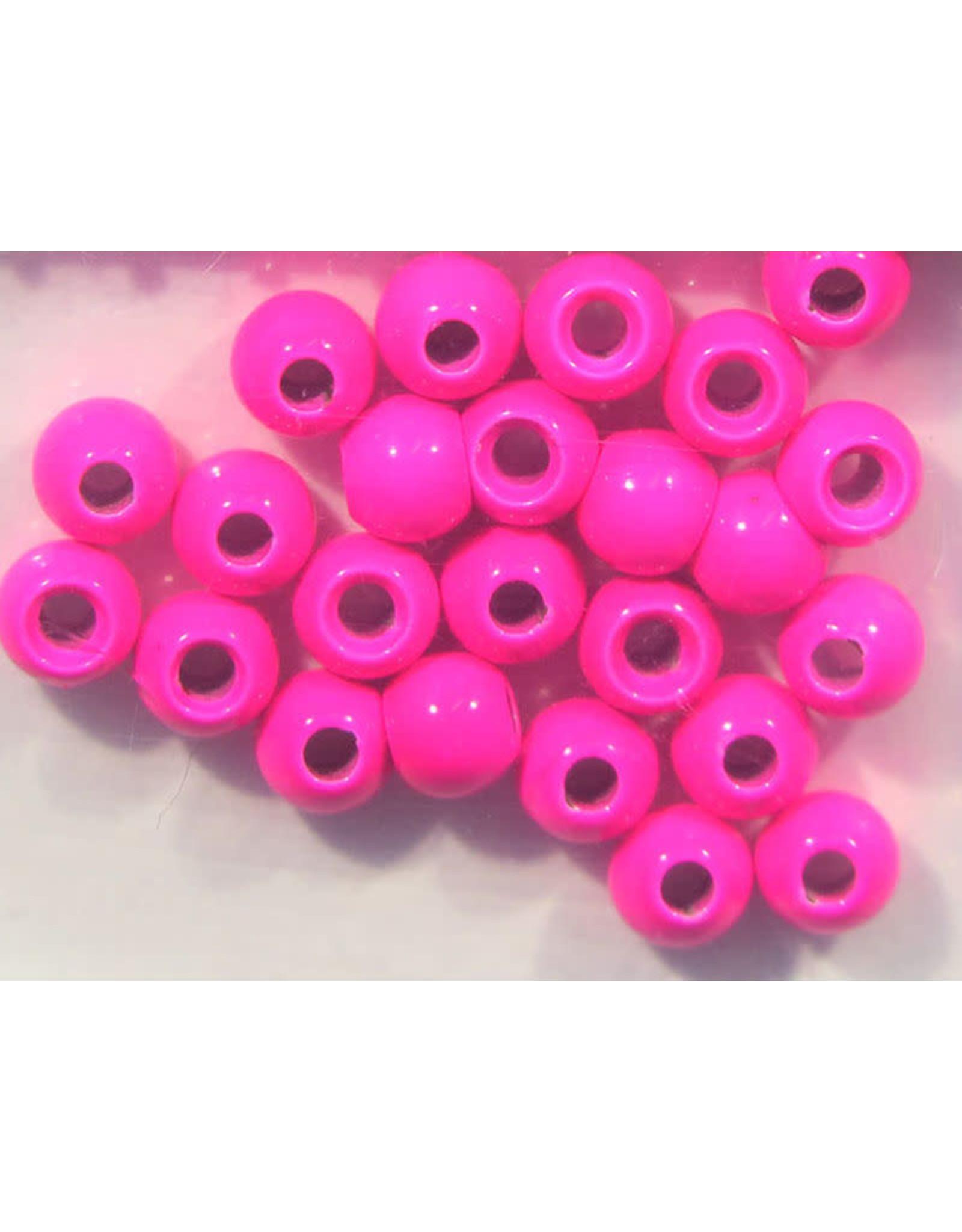 "Hareline Dazzle Beads - Fl. Pink 7/64"""