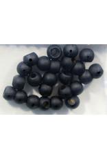 "Hareline Dazzle Beads - Matte Black 5/32"""