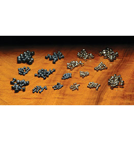 Hareline Nickel Plated Lead Dumbbell Eyes - Large WPT5