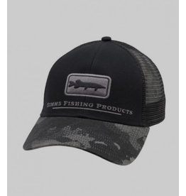 Simms Simms Pike/Musky Icon Trucker - Hex Flo Camo Carbon