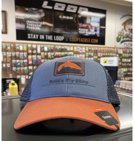 Simms Reid's/Simms Trucker Caps - Blue/Orange Simms Logo