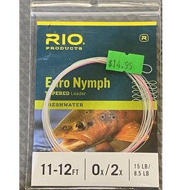 Rio Euro Nymph Leader w/Tippet Ring - Pink/Chartreuse Sighter