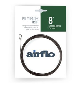 Airflo Airflo Trout Poly Leader 8' Fast Sink Brown 3ips